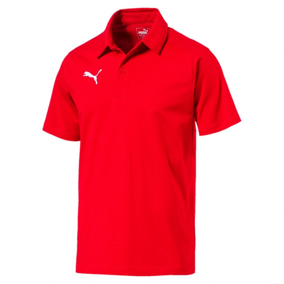 Puma Triko LIGA Casuals Polo červené - PUMA Textil