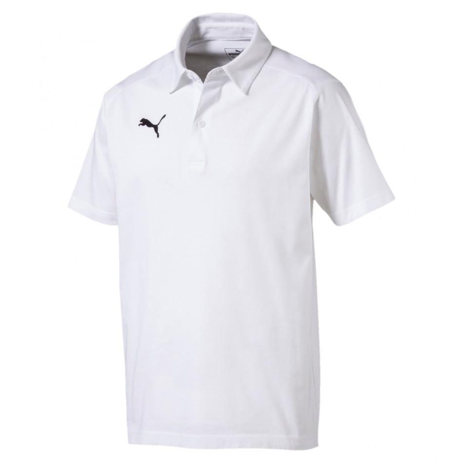 Puma Triko LIGA Casuals Polo bílé - PUMA Textil