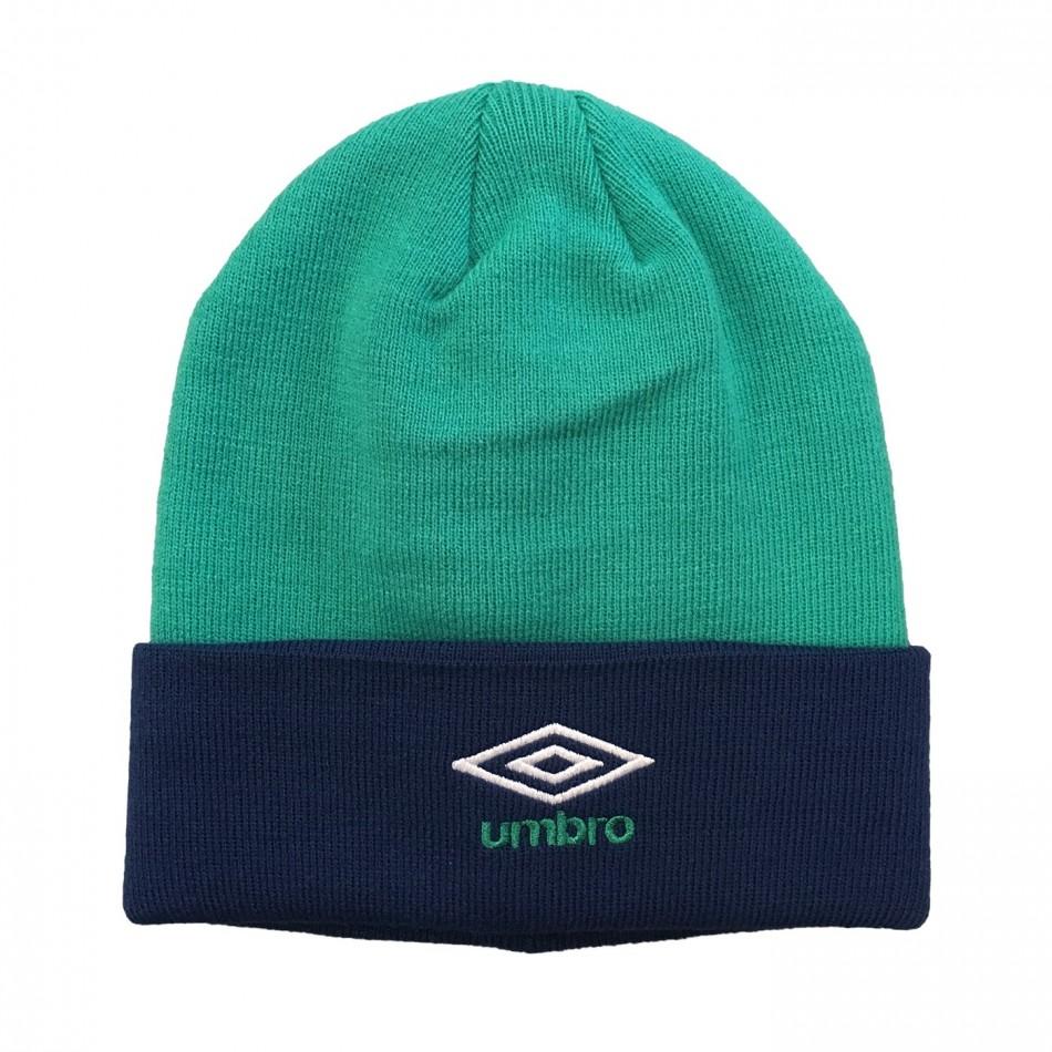 Umbro zimní čepice Colour Block Beanie - Vivid Green/Navy Peony - Čepice