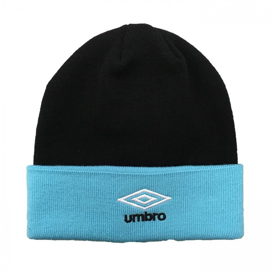 Umbro zimní čepice Colour Block Beanie - Black/Bluefish - Čepice