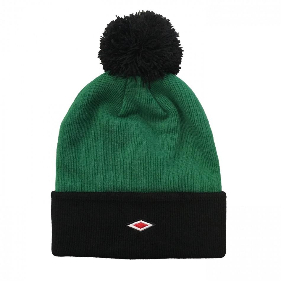 Umbro zimní čepice Bobble Beanie zelená - Čepice