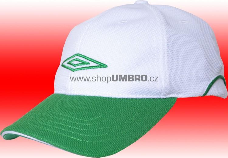 B. Cap HALF PIQUE STRECH (bílo-zelená) Jr. - Doplňky
