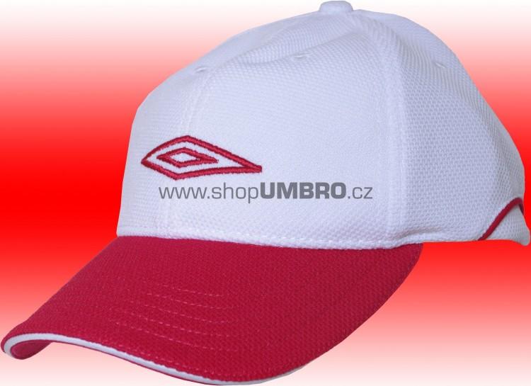 B. Cap HALF PIQUE STRECH (bílo-červená) - Čepice
