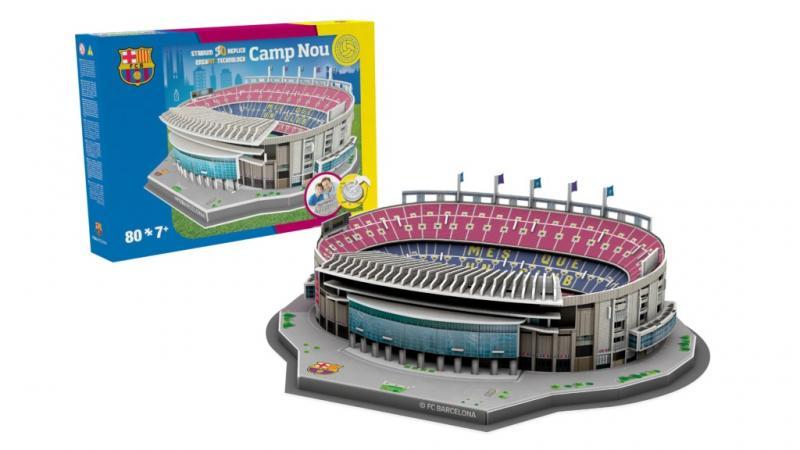 Nanostad BASIC: SPAIN - Camp Nou (FC Barcelona) - Fanshop - Fotbalové 3D stadiony