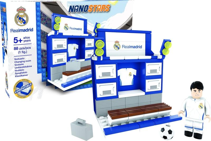 NANOSTARS: Real Madrid - šatna - Fanshop - Fotbalové 3D stadiony