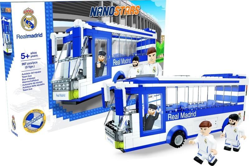 NANOSTARS: Real Madrid - autobus - Fanshop - Fotbalové 3D stadiony
