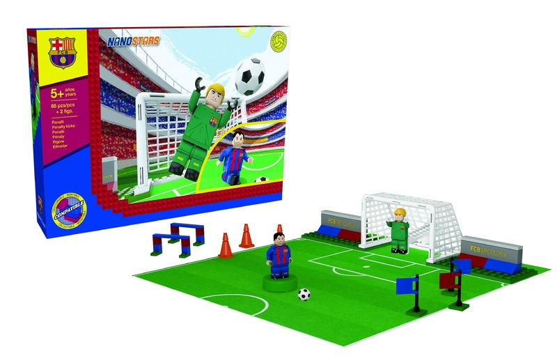 NANOSTARS: FC Barcelona - penalty - Fanshop - Fotbalové 3D stadiony