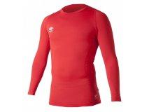 Umbro termotriko CORE LONGSLEVE červené Textil - Termoprádlo
