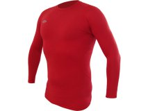 Umbro Termo Triko LS BASELAYER CREW červené Textil - Termoprádlo