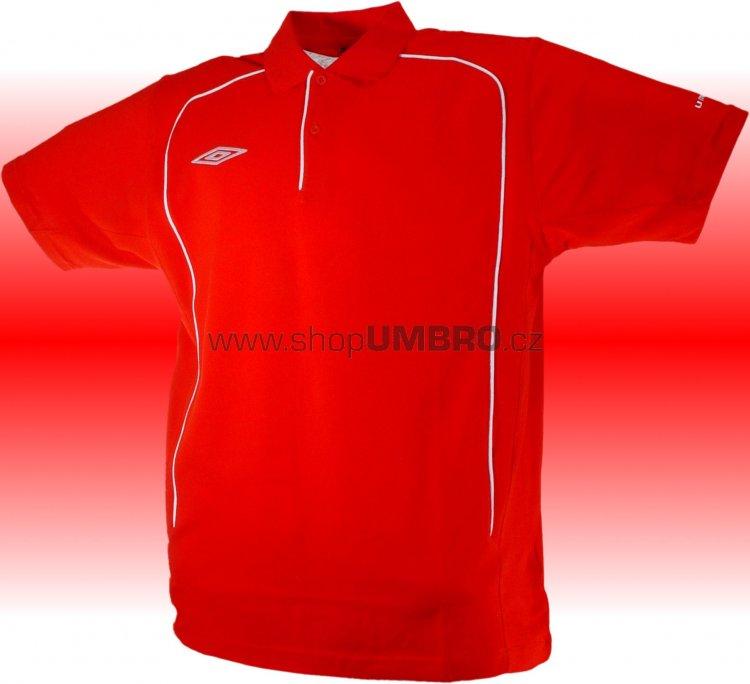 Umbro triko Polo TEAM PIQUE-1- (červená) - Trika