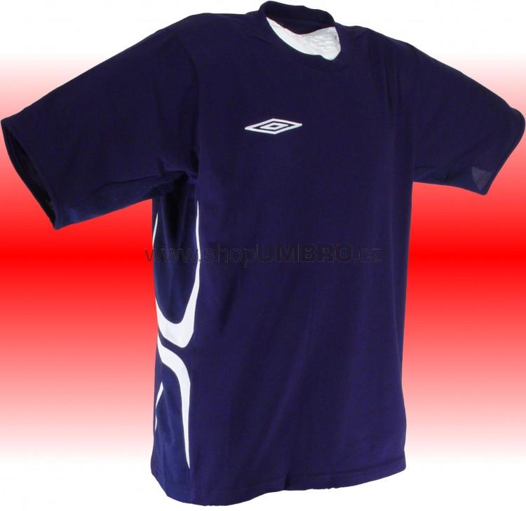 Umbro Tričko TEAM X COTON (modrá) - Trika