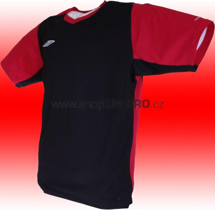 Umbro triko TRAINNING II - V (černo-červená) - Trika